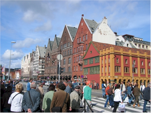 crowded saturday in bergen